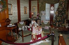 We decorated this room at the Pabst Mansion.
