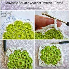 Crochet y dos agujas: Grannys paso a paso para principiantes
