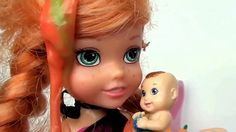 Frozen Anna and Elsa Toddlers Slimed by Twin Barbie Baby Kitchen Food Fi...