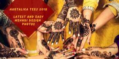 Hartalika Teej 2018: Latest and Easy Mehndi Design Photos - Makeup Review And Beauty Blog Mehendi Designs For Kids, Full Mehndi Designs, Indian Mehndi Designs, Mehndi Design Photos, Wedding Mehndi Designs, Mehndi Designs For Fingers, Mehandi Designs, Teej Festival, Rajasthani Mehndi