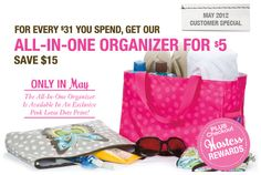 http://www.mythirtyone.com/192262/  Are you looking for a way to organize yourself and your home, but in a fashionable way?  Then look no further than Thirty One Gifts!  Come on over and browse through my website.  There you can place an order, host a party or learn more about the Thirty One business opportunity.  Whatever your needs, I am there to help!