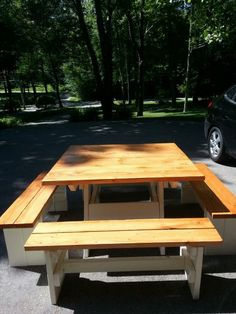 Picnic Table and Benches   Do It Yourself Home Projects from Ana White