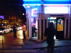 Takeaway, Westgate Wakefield. Wakefield, Times Square, Dark, Night