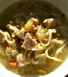 Crockpot Chicken Noodle Soup is an an easy recipe and perfect for fall.  We love how easy it is to prepare in the slow cooker!