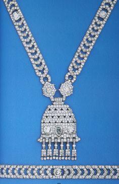 Cartier London Art Deco Diamond Necklace
