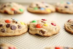 M&M Cookies {Bakery Style M and M Cookie Recipe} Key Lime Cookies, M M Cookies, Best M&m Cookie Recipe, Cookie Recipes, Dessert Recipes, Easy Desserts, Delicious Desserts, Yummy Food, Oatmeal Lace Cookies