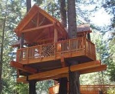 real tree houses to live in. Guys think of this kinda thing. Cool Tree Houses, Fairy Houses, Play Houses, Treehouse Living, Building A Treehouse, Earthy Home, Woodland House, Tiny House Cabin, Tree Tops
