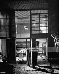 News Photo : Designer house by Charles #Eames showing living...