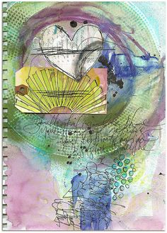 HAPPY DIRECTIONS art journal page by Roben-Marie Smith, via Flickr