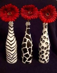 Resultado de imagen para manualidades con botellas de vidrio #decoratedwinebottles