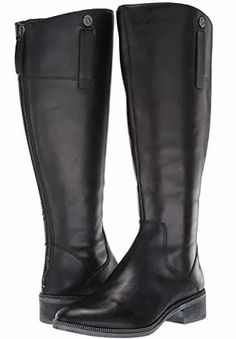 Women's Black Leather Wide Calf Riding Boots. Black Leather Riding Tall Riding Boots Women's. A black leather upper, and accented by a decorative strap detail at the side, and a metallic bead-link chain along the welt. Tall Riding Boots, Trendy Plus Size Fashion, Community Boards, Wide Calf Boots, Perfect Woman, Curvy, Metallic, Black Leather, Bead