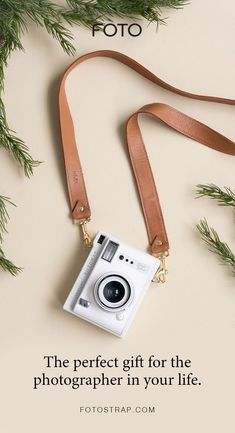 FOTO's saddle brown genuine all-leather designer camera strap can be personalized with a monogram or business logo, making this leather camera strap the perfect personalized gift. Leather Camera Strap, Camera Straps, Personalized Products, Personalized Gifts, Gifts For Photographers, Business Logo, Card Wallet, Pebbled Leather, Gift Guide
