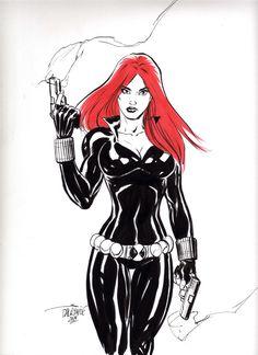 Black Widow (Natasha Romanova) - Marvel's Avengers - by Scott Dalrymple