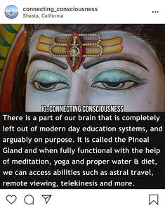 Awaken the Pineal Gland it is Necessary to Consume Nutritious Foods, Practice Regular Meditation, Yoga, Qigong, Alkaline Water. Spiritual Growth, Spiritual Quotes, Spiritual Life, Spiritual Stories, Spiritual Psychology, Qi Gong, Alternative Energie, Spiritual Development, Psychic Development