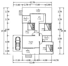 This house concept is simple in design yet the touch of elegance is still in it. With 3 bedrooms, this house is 143 square meters total floor area. Simple House Design, House Front Design, Roof Design, Modern Bungalow House, Bungalow House Plans, My House Plans, Modern House Plans, 2 Storey House Design, Three Bedroom House Plan