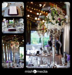 biltmore estates weddings   Nicole and John, tall candelabra centerpieces