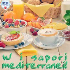 W la colazione all'italiana e i sapori mediterranei! #cappuccino, cereali, spremuta d'arancia, pane e marmellata, frutta