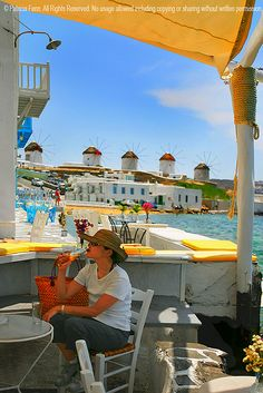 Chilling in Mykonos.....Wendy, we lived it here!