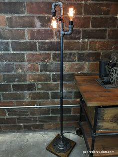 Multi Bulb Edison Floor Lamp Industrial by newwineoldbottles