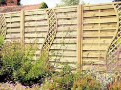 A trellis panel is a good option for incorporating climbing plants into your fencing.