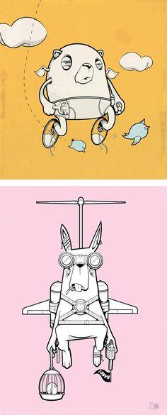 Illustrations by Steve Salgado | Inspiration Grid | Design Inspiration