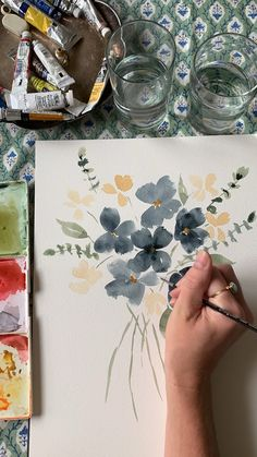 Custom watercolor paintings by Brianna Johnson Art. Custom watercolor paintings by Brianna Johnson Art. Watercolor Drawing, Watercolor Print, Simple Watercolor Paintings, Watercolor Painting Tutorials, Flower Art Drawing, Watercolor Flowers Tutorial, Watercolour Illustration, Watercolor Video, Watercolor Water