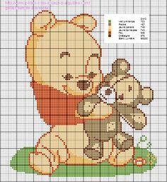 Voici une grille refaite de Winnie l'Ourson :