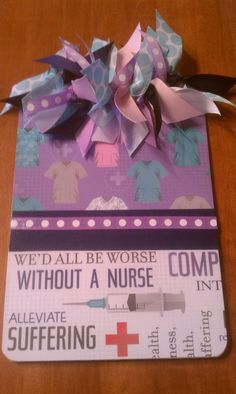 Newest Nurse Design... Notepad Size, Personalized, Nurse Style Clipboard.  GREAT GIFT FOR A NURSE!! $14.00