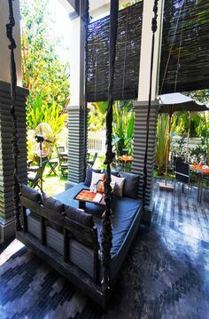 The Angkorian-inspired design and leafy setting of Shinta Mani Club completes this outdoor area.   Siem Reap, Cambodia