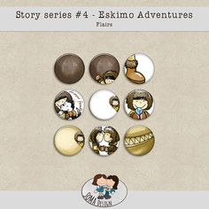 Story Series - Eskimo Adventures Flairs The Eskimo Adventures is the fourth part of our Story series. Digital Scrapbooking, Adventure, Design, Art, Craft Art, Kunst, Fairytail, Gcse Art