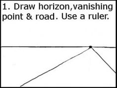Step by Step Drawing Tutorial for CC Fine Arts, Cycle 2, Week 5, Perspective