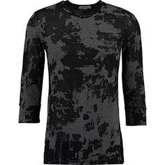 Black & Grey Camouflage T-Shirt