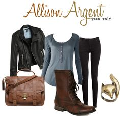 """""""Allison Argent"""" by cathyabreu on Polyvore Love this outfit idea"""