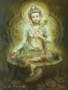 """Green Tara, Green Tara is a revered Buddhist deity. She is a Buddha of enlightened actions. The name Tara translates as """"star"""" Like a shooting star streaking across the sky Goddess Tara helps to swiftly move us along on our path to liberation and freedom. If you are feeling stuck, or continue to encounter barriers with your spiritual growth, call upon Tara to help kick-start your progress. She wants to see you succeed and will help you along the way."""