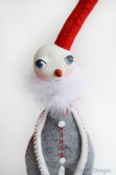 Whimsical Snowman  Christmas Snowman  by MyriamPowellDesigns, $60.00