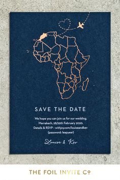 Destination Wedding Save The Dates, Destination Weddings, Our Wedding, Wedding Ideas, Foil Save The Dates, Save The Date Cards, Wedding Abroad, Marrakech Morocco, Save The Date Magnets