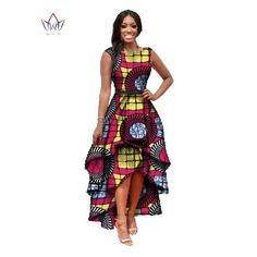african clothes for women o-neck african embroidery bazin dress Dashiki women dress cotton african print dress big size African Dashiki Dress, African Wear Dresses, African Fashion Ankara, African Print Fashion, African Attire, African Clothes, Nigerian Fashion, African Traditional Wear, Big Size Dress