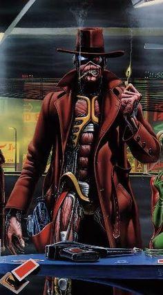 Eddie Palm Pre Wallpaper: Iron Maiden Stranger in a Strange Land | Look Sharp Designs #eddie #ironmaiden #artwork  http://www.pinterest.com/TheHitman14/eddie-of-iron-maiden-fame/