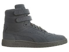 Puma Sky II Hi Mono Nubuck Mens 361972-02 Steel Grey Shoes Sneakers Size 11