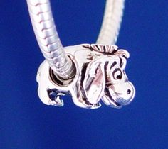 Eeyore Winnie the Pooh Disney European Charm Bead Silver Plated designed to fit your Pandora Bracelet. $11.25, via Etsy.