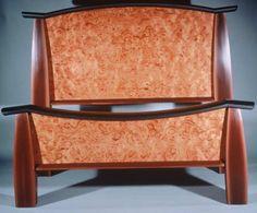 veneered bed by Bill Bancroft
