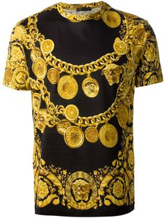 Versace T-shirts: Brother's Collection. Versace T-shirt, Versace Chain, Versace Fashion, Gianni Versace, Shirt Print Design, Shirt Designs, Versace Mens Shirt, Versace Hoodie, Lacoste