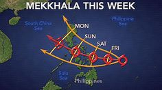 Tropical Storm Mekkhala continues to head toward the Philippines, putting the country at risk for heavy rain and gusty winds for the weekend.