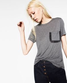 TULLE POCKET T-SHIRT-NEW IN-WOMAN | ZARA United States