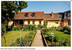 Woonhuis Goethe inn Weimar achterzijde met tuin