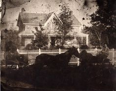 #throwbackthursday to the two storey residence of James Shand, located on the Reach Road (Simcoe Street), south of Columbus.  The image is from the late 1800s. (A984.4.1)  .  .  .  #oshawa #oshawamuseum #vintage #ouroshawa #tbt #archives