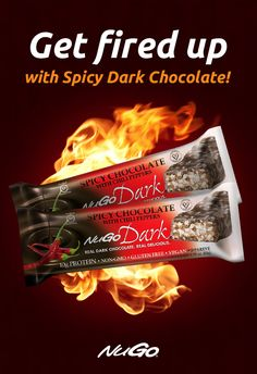Heat up in the cold weather with NuGo Dark Spicy Chocolate. Coated in Real Dark Chocolate, gluten-free, vegan, and 10 grams of protein.