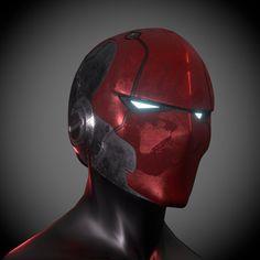 Red Hood Ronin Helmet | Etsy Werewolf Mask, Batman Arkham Knight, Batman Beyond, Red Hood, Fantasy Character Design, Amazing Spider, 3d Printing, Concept Art, Jason Todd