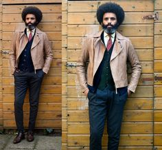 The jacket belonged to my girlfriend. I love the color so much that she gave it to me:) #customized #beard #dapper #leather #thrift #diy #menswear #winter #dandy #Trendy #ootdmen #ootd #necktie #preppy