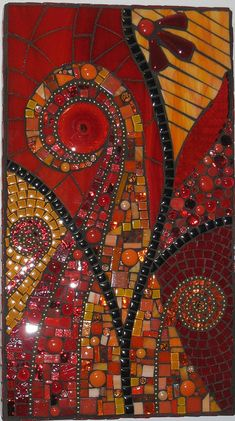 "Abstract ""Esther"" by mosaic Mosaic Artwork, Mosaic Wall, Mosaic Glass, Mosaic Tiles, Fused Glass, Glass Tiles, Mosaic Crafts, Mosaic Projects, Art Projects"